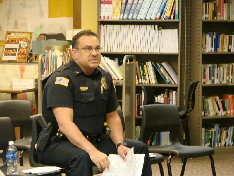 Talking it over: Cline, school panel discuss officer proposal