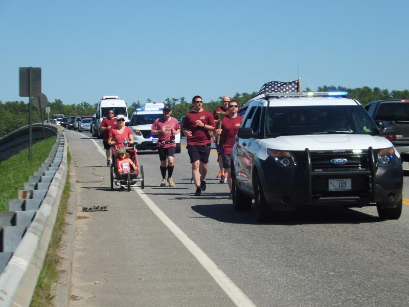 SCV Deputies Run with Torches for Special Olympics Games