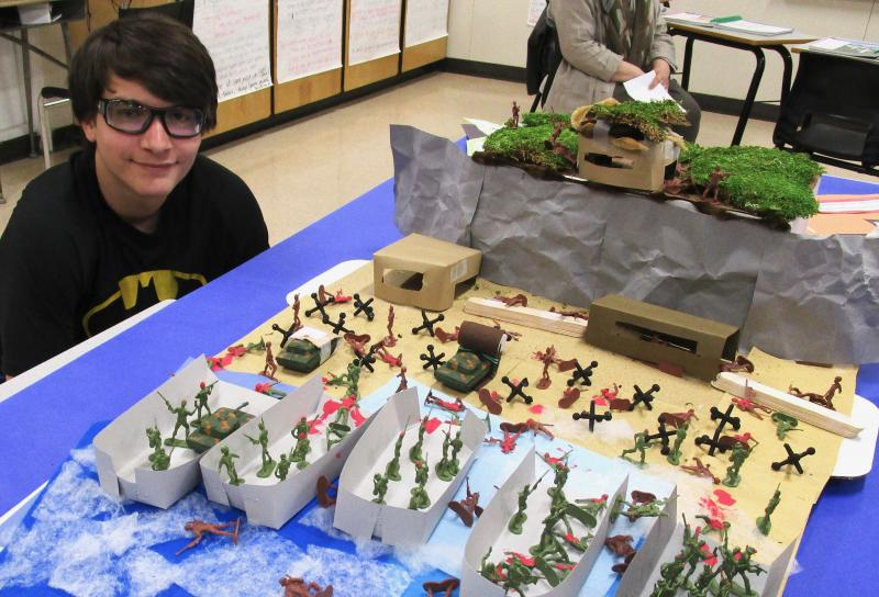 Students share WWII D-Day lesson with Post 54 vets
