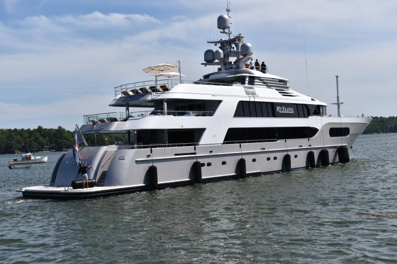 Dream boat of Bravo fame in Wiscasset harbor | Wiscasset