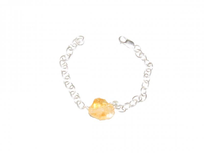 Sterling Silver and Citrine Bracelet
