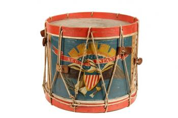 Circa 1863 A. Rogers Civil War field drum