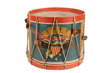 Circa 1863 A. Rogers Civil War field drum