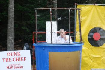 Dunk the Chief Fun-raising at the Westport BBQ