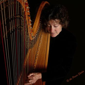 "Harpist Virginia ""Suki"" Flanagan"