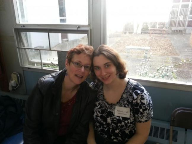 Nancy Call, left, of Dresden, and daughter Helen Call last month at an academic awards banquet at the University of Maine at Orono. The younger Call won a pair of awards. Courtesy of Nancy Call