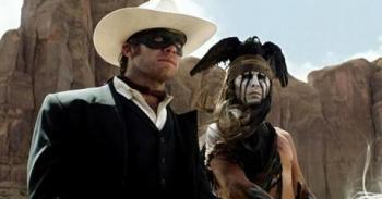 The Lone Ranger (Armie Hammer) and Tonto (Johnny Depp)