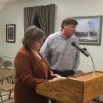 Wiscasset Treasurer Shari Fredette, Wiscasset Public Works Director Doug Fowler