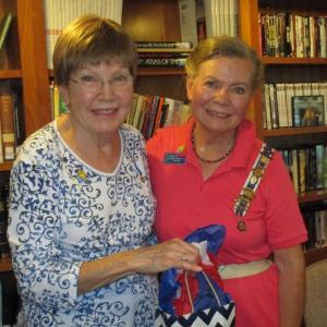 Paula Clinton, Pemaquid Chapter Chaplain, left, and guest speaker Earlene Chadbourne, Maine State D.A.R. Chaplain
