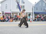 The Lincoln County Sheriffs Office marched Saturday in Damariscotta during Pumpkinfest. BEN BULKELEY/Boothbay Register